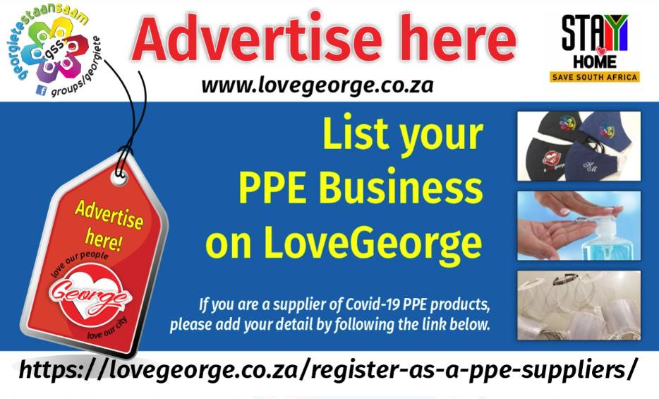 Register as a PPE Suppliers - Love George NEWS