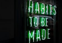 habits to be made neon light